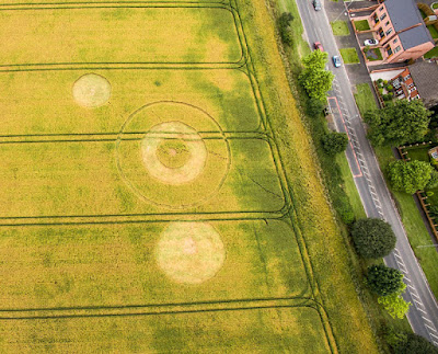 Crop circle? Barrows Green , Nearr Widnes, Lancashire. Reported 7th July 2016
