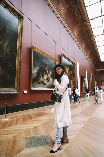 Alicia Mara inside the Louvre Museum in Paris