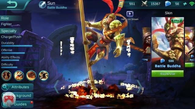 Gear Sun Mobile Legend