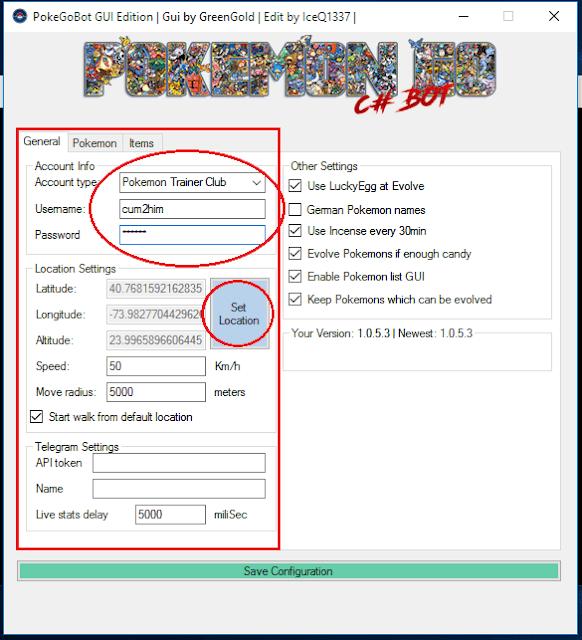 Cara Menggunakan PokeGoBot Build 1.0.5.3 Pokemon Go