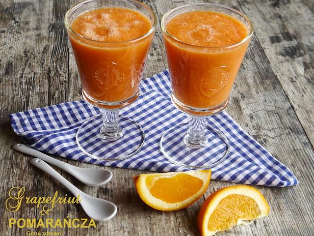 Koktajl grapefruitowo - pomarańczowy. Co zdrowego znajdziesz w grapefruicie? - Czytaj więcej »