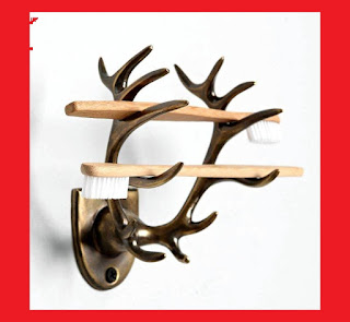 Antlers toothbrush holder