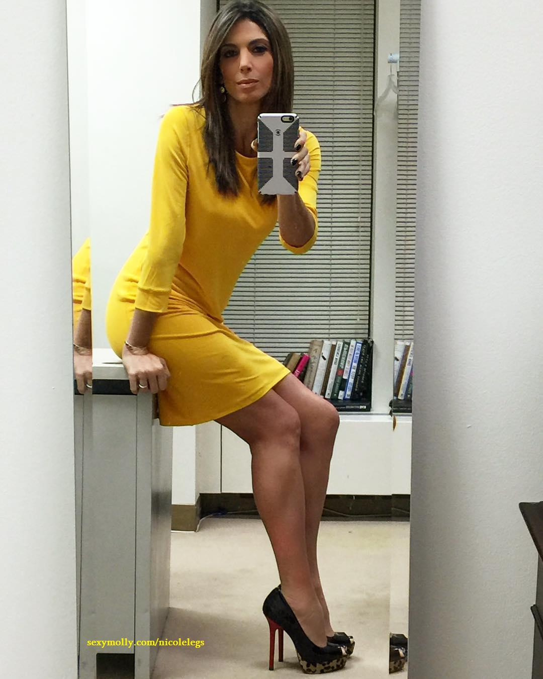 Nicole petallides upskirt