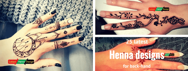 Latesthennadesigns: get you best simple backhand henna designs for upcoming events e.g Eid etc