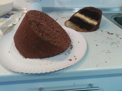 Portal-cake corte en dos