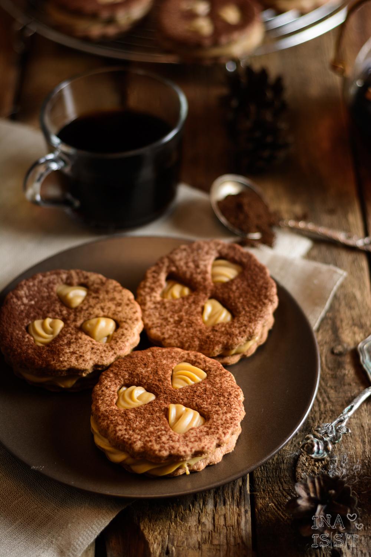 Coffee Circle: Pfauenaugen mit feiner Kaffeecreme und Kakao