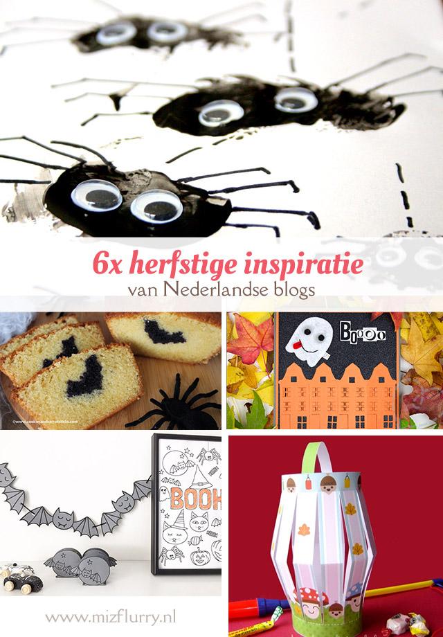 Lekker creaftief bezig zijn in de herfst? Laat je inspireren door deze zes Nederlandstalige blogs! Een simpele spinnenknutsel, Halloween verrassingscake, Halloween kaarten maken, vleermuis printable, Sint Maarten lampion en een speelbos.