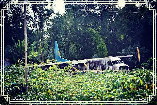 Bangkai Pesawat yang terbengkalai di Kota Ruteng