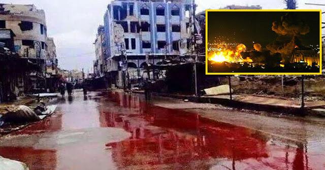Un río de sangre en Siria, pero no importa; no es Francia, no es Niza!