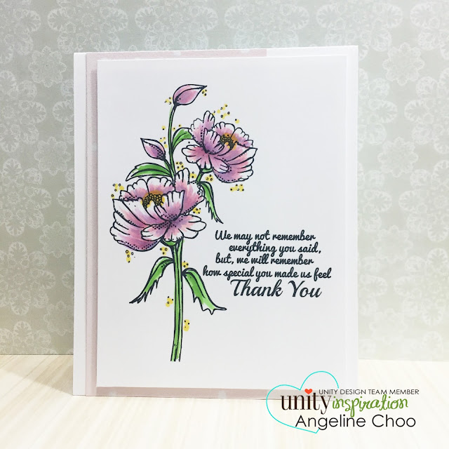 ScrappyScrappy: Unity BIG Blog Hop + New Videos #scrappyscrappy #stamp #stamping #card #unitystampco #copic #coloring #flowers