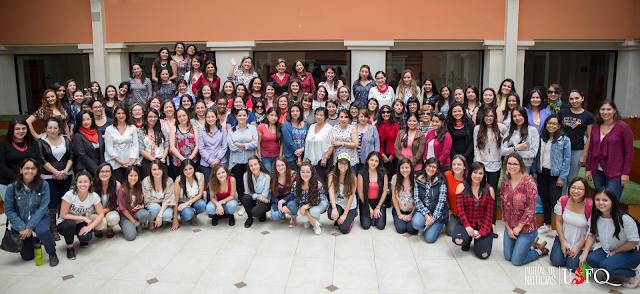 Dragonas de la USFQ organizaron un encuentro por el Día Internacional de la Mujer