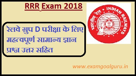 Railway RRC Group D 100 Important GK Question and Answer in