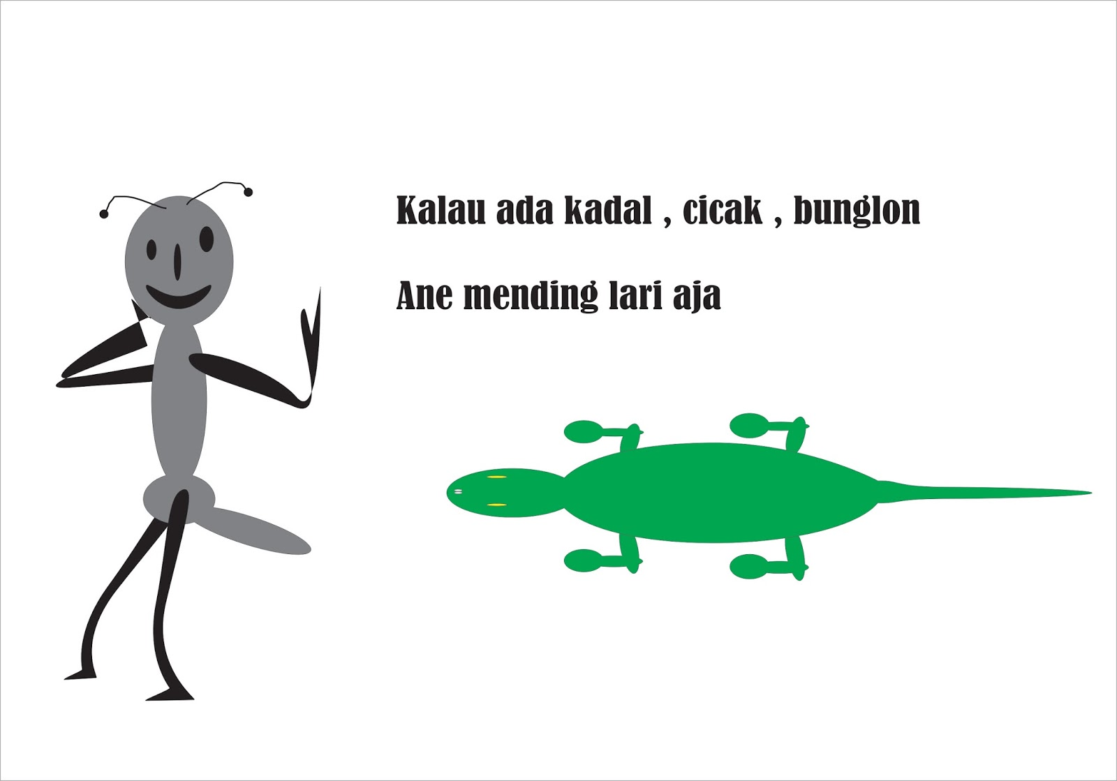 Semut Dan Kadal Cerita Tentang Semut