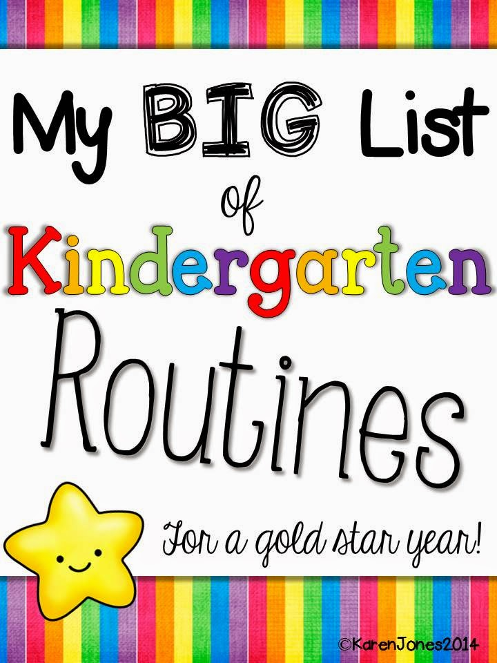 routines and procedures for kindergarten, back to school kindergarten
