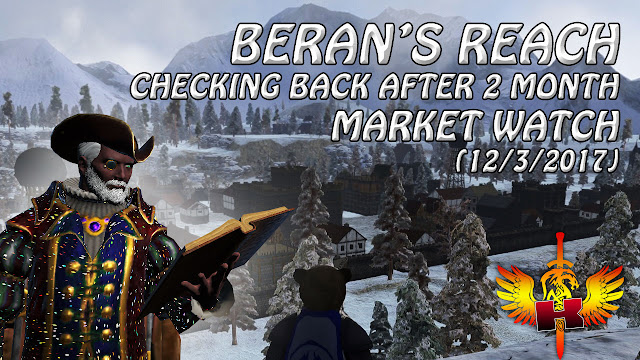 Beran's Reach (12/3/2017) Checking Back After 2 Months • Shroud Of The Avatar Market Watch