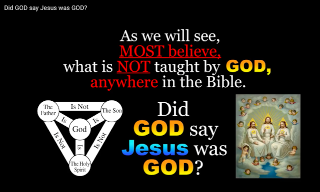 As we will see, MOST believe, what is NOT taught by GOD, anywhere in the Bible.