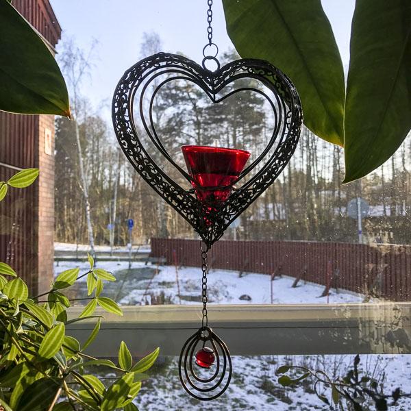 hjärta, fönsterdekoration