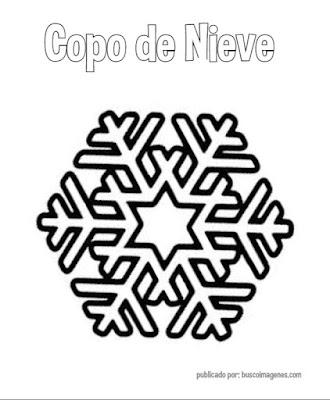 dibujos de copos de nieve para colorear.