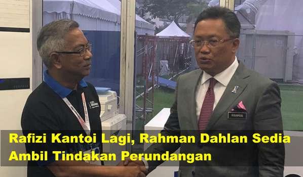 [Video] Rafizi Kantoi Lagi, Rahman Dahlan Sedia Ambil Tindakan Perundangan