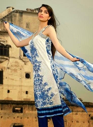 `ALKARAM  Summer Lawn Prints Collection 2014/15 www.fashionwearstyle.com