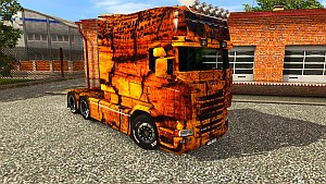 Gold Grunge skin texture for Scania RJL