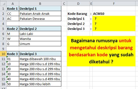 Contoh Soal Excel Rumus VLOOKUP