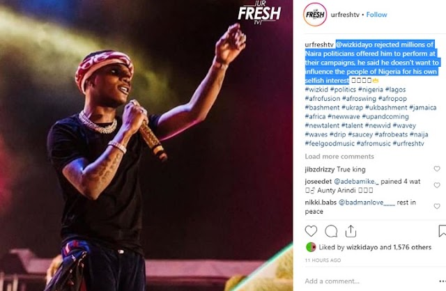 Davido Resurrects Beef Again As He Shades Wizkid over 2019 election