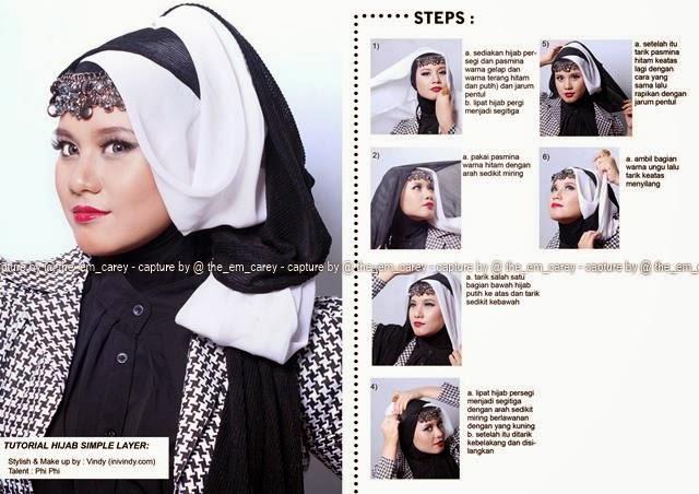 Tutorial Kerudung Hijab Segi Empat Modern Anggun untuk Pesta