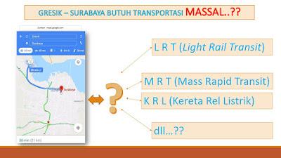 Peta Gresik Surabaya Membutuhkan Transportasi Masal