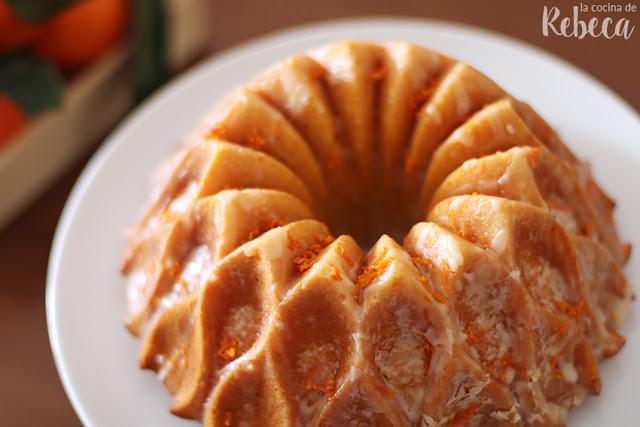Bundt cake de mandarina glaseado