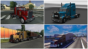 4 Peterbilt trucks pack