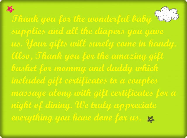 Baby Shower Thank You Poems