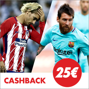 circus promocion 25 euros Atlético vs Barcelona 14 octubre