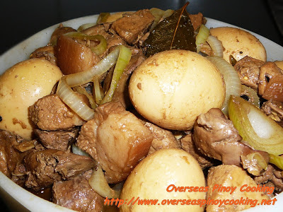 Chicken Liver and Hard Boiled Egg Adobo