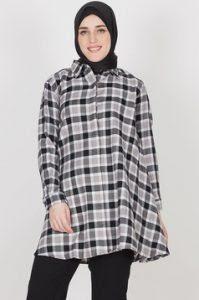 Model Baju Kemeja Muslim Wanita Modern