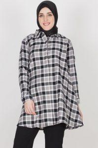 Model Baju Kemeja Kotak Kotak Muslim Terbaru