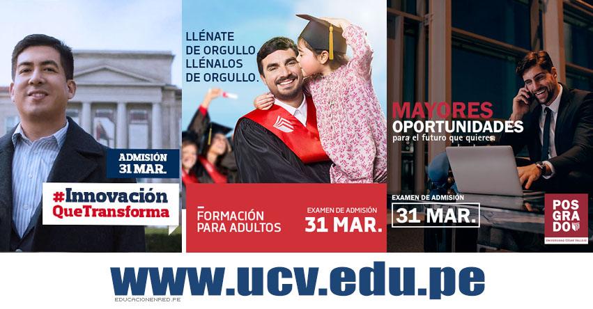 Resultados UCV 2019 (Domingo 31 Marzo - Prueba de Aptitud) Lista de Ingresantes - Examen de Admisión - Examen de Ganadores - Universidad César Vallejo - www.ucv.edu.pe