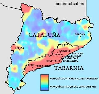 Propuesta de división de Cataluña en dos territorios según su apoyo al independentismo