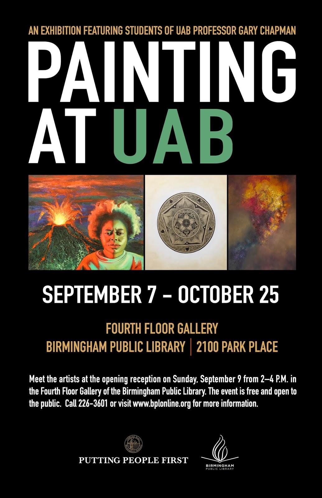 Birmingham Public Library Painting At Uab Exhibit Begins September
