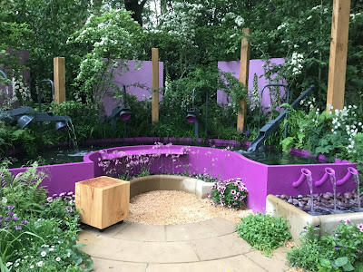 Pic of water music feature in Papworth Trust's Chelsea Flower Show garden