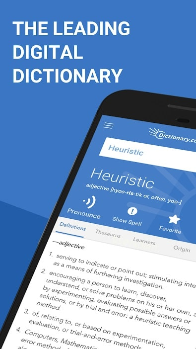Apps for students Dictionary.com app