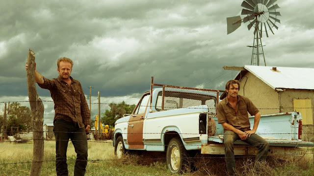 "Ben Foster and Chris Pine in ""Hell or High Water"", which will not win enough Oscars"
