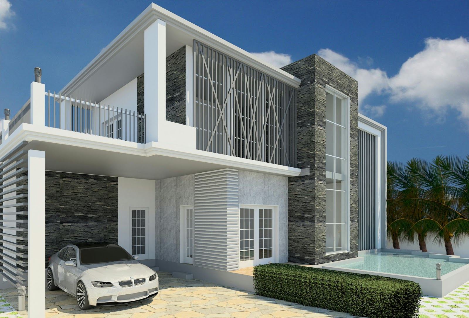 Revit architecture modern house design 8 cad needs for Modern architecture design house
