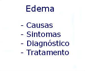Edema causas sintomas diagnóstico tratamento prevenção riscos complicações