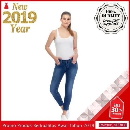 RMY006J26 Jeje Jeans Celana Jeans Keren Reguler Biru BMGShop