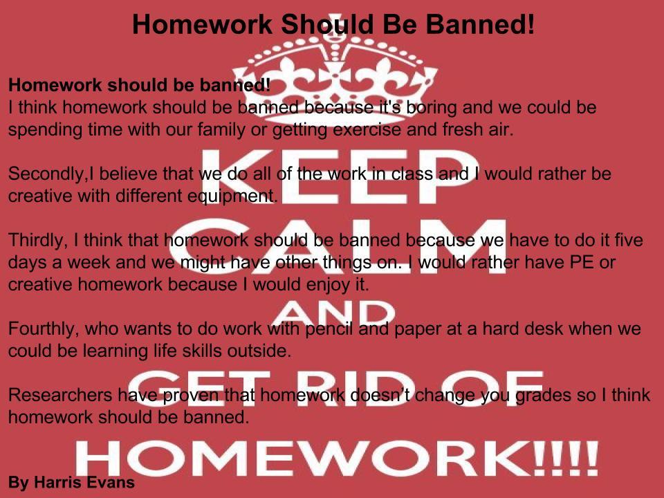 homework banned