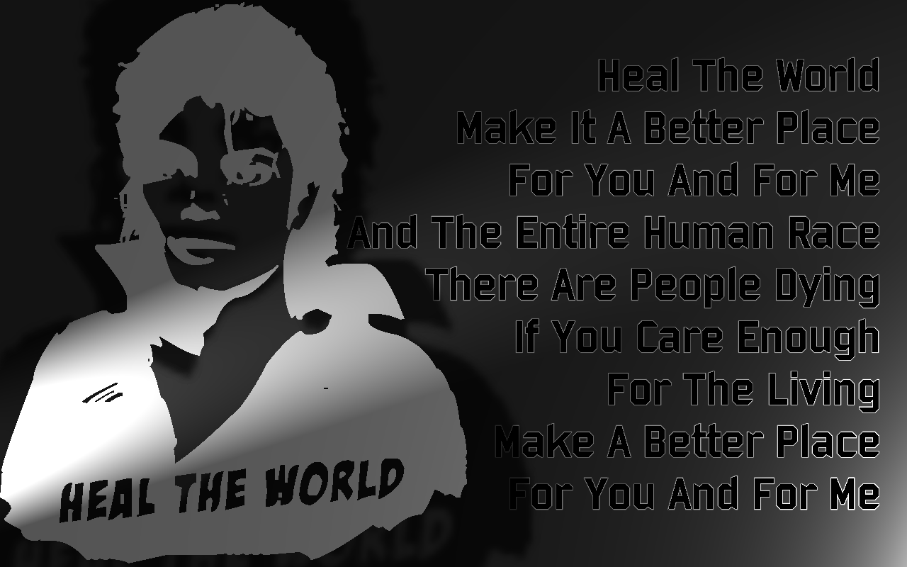 Song Lyric Quotes In Text Image: Heal The World - Michael