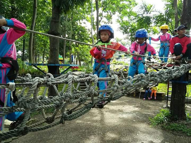 kids outbound di pacet mini park