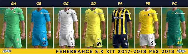 Fenerbahçe Kit 2017-2018 PES 2013