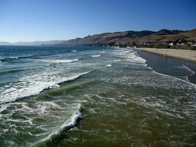 Landscape of sea,wave and coast at Pismo Beach